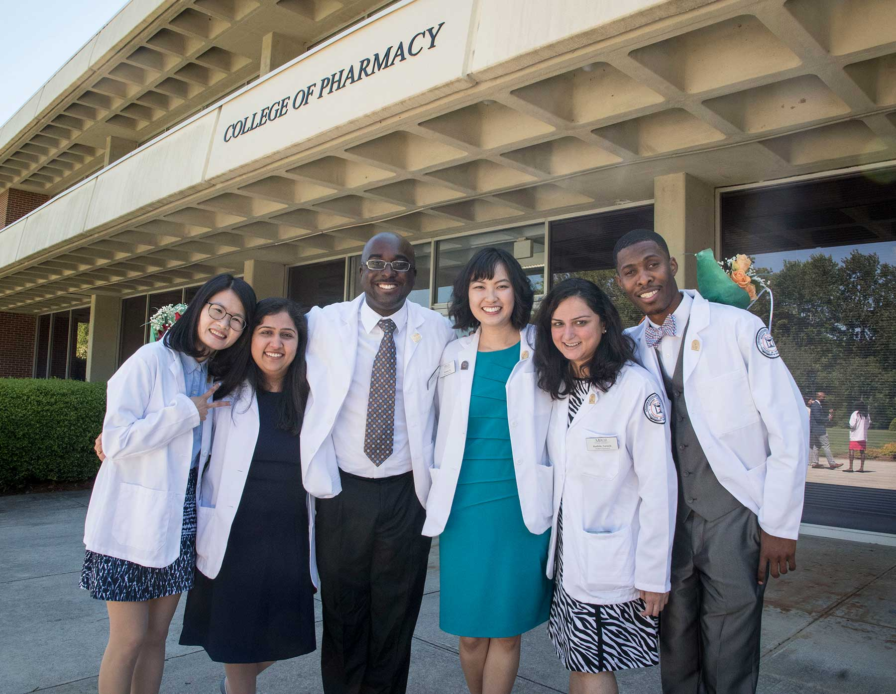 smiling pharmacy students